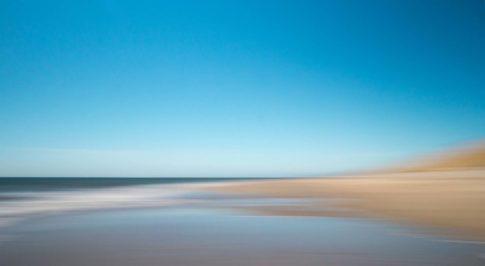 sylt kommende flut am strand