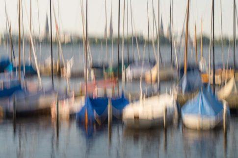 hamburg segelboote auf der alster